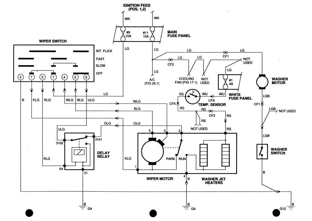 1996 jaguar xj6 stereo wiring diagram where is the windshield wiper relay on 89? - xj-s - jag ... xj6 wiper wiring diagram #3