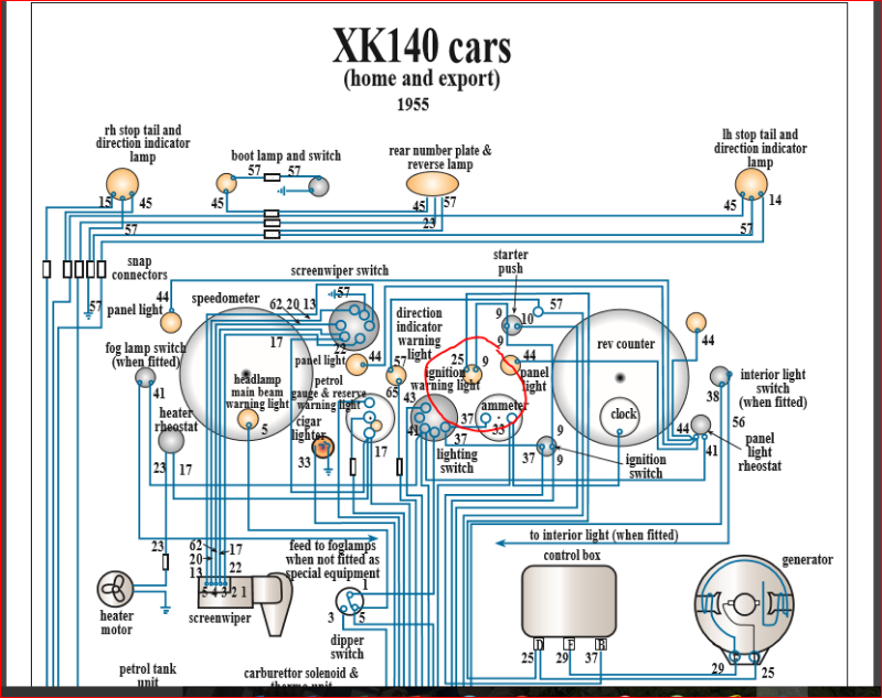 Ignition Light Wiring - Xk