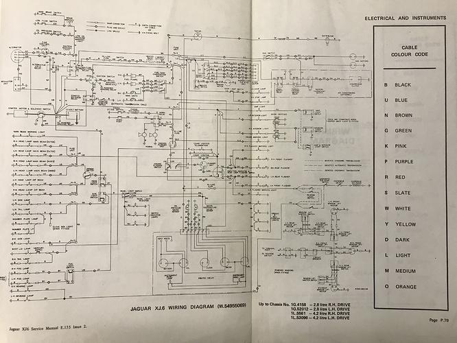 Wiring Problem On 1972 Xj6 - Xj